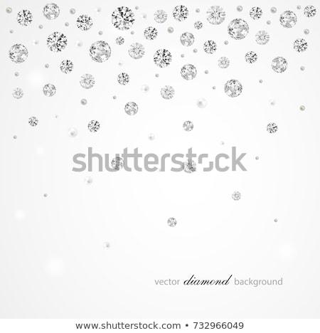 вектора · diamond · мягкой · белый · фон · свадьба - Сток-фото © CarpathianPrince