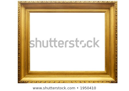 Rectangular Golden Picture Frame w/ Path Stock photo © winterling