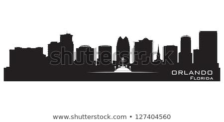 Orlando Florida Skyline Detailed City Silhouette Сток-фото © YurkaImmortal