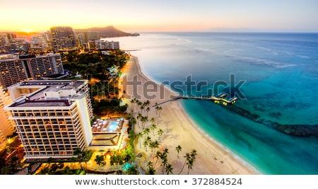 Homokos tengerpart Honolulu Hawaii festői kilátás USA Stock fotó © stocker
