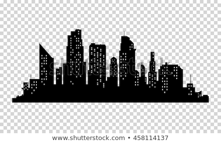 Stock photo: vector skyscrapers silhouettes