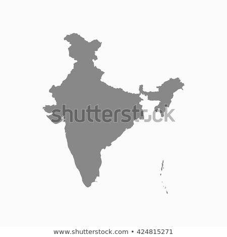 Grey India map Stock photo © Volina