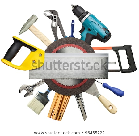 Carpentry, construction hardware tools collage. Stock photo © pxhidalgo