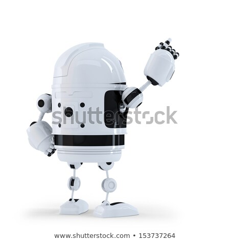 android robot pointing at invisible object stock photo © kirill_m