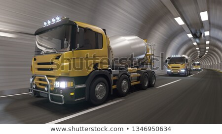 Batedeira caminhão túnel pequeno rocha estrada Foto stock © photosil
