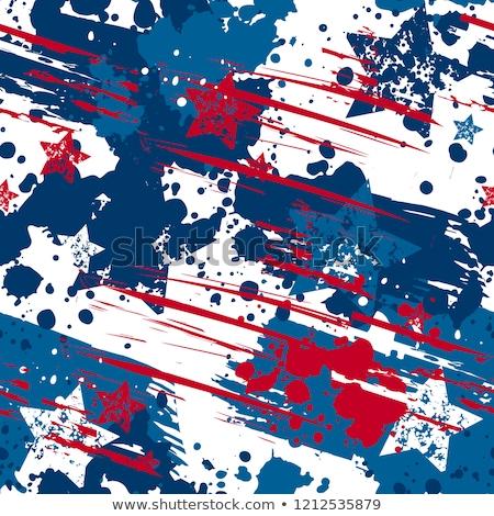 Senza soluzione di continuità patriottico rosso blu moda Foto d'archivio © creative_stock