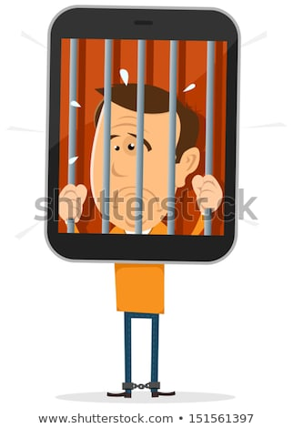 Mobile Phone Prisoner Stock photo © benchart