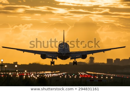 Runway lights at the airport in sunlight Stock photo © franky242