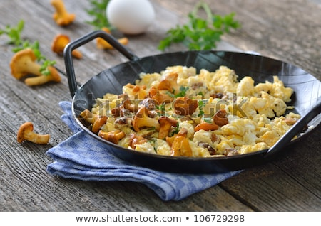scrambled eggs with mushrooms  Stock photo © tarczas