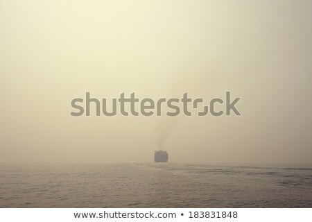 lonely Cargo Container Ship in sea Stock photo © cozyta