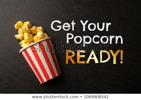 попкорн синий мелкий бумаги фон Сток-фото © danielgilbey