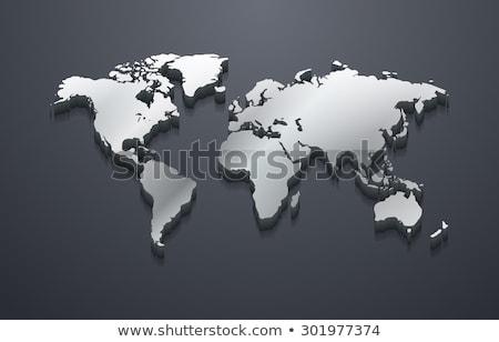 銀 · メタリック · 世界中 · 実例 · 矢印 · 周りに - ストックフォト © yuriy