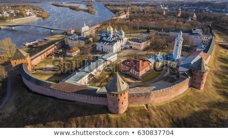 Kreml égbolt fű épület fal kastély Stock fotó © silense
