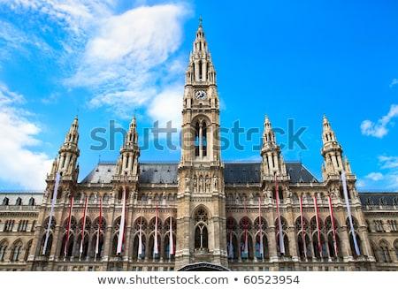 Close up Tall gothic building of Vienna city hall, Austria Stock photo © bloodua