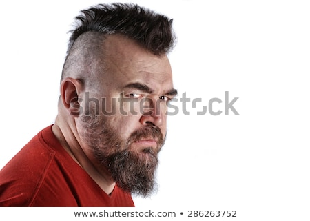 difícil · cara · retrato · masculino · olhando · moço - foto stock © curaphotography