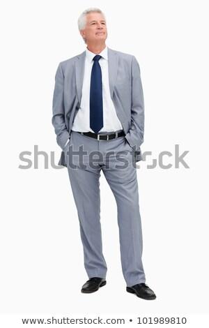 Front view Caucasian businessman looking away full length Stock photo © dgilder