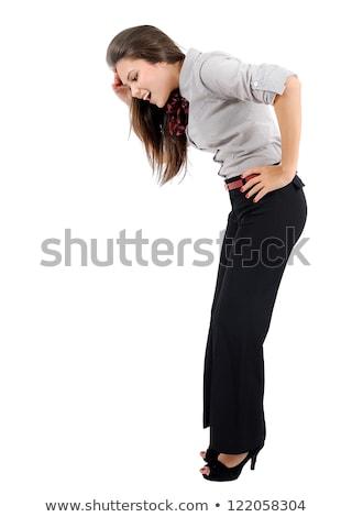 businesswoman - looking down Stock photo © dgilder