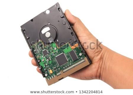 közelkép · számítógép · merevlemez · technológia · gép · stúdió - stock fotó © stevanovicigor