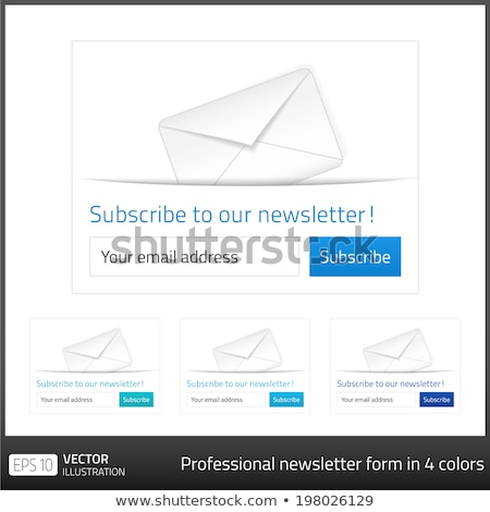 Light Subscribe to newsletter form with white background and button in 4 cold tones Stock photo © liliwhite