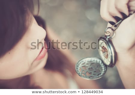 Stockfoto: Future On Pocket Watch Face Time Concept
