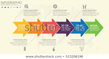 Infographic options with color arrow Stock photo © m_pavlov
