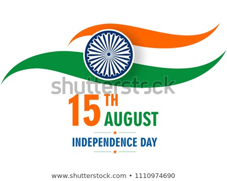 15th of August beautiful indian flag texture colorful illustrati Stock photo © bharat