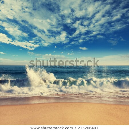 beach scenery with parasol Stock photo © EwaStudio