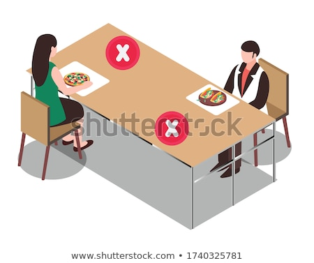 cafeteria tables Stock photo © aspenrock