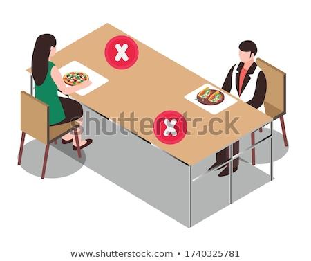 оранжевый · таблице · Председатель · диван - Сток-фото © aspenrock