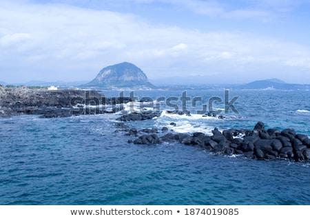 coast with Stones of volcanic flow   Stock photo © meinzahn