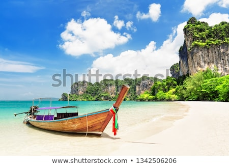 longtemps · queue · bateau · Thaïlande - photo stock © sundaemorning