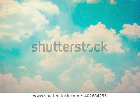 Sonhador céu branco fofo nuvens grão Foto stock © Julietphotography