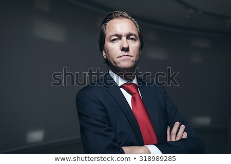 Sério empresário pare gesto isolado Foto stock © ocskaymark