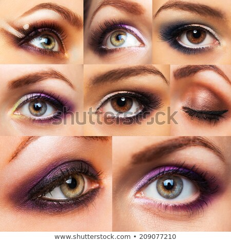 Collection beautiful womanish eye with glamorous makeup Stock photo © vlad_star