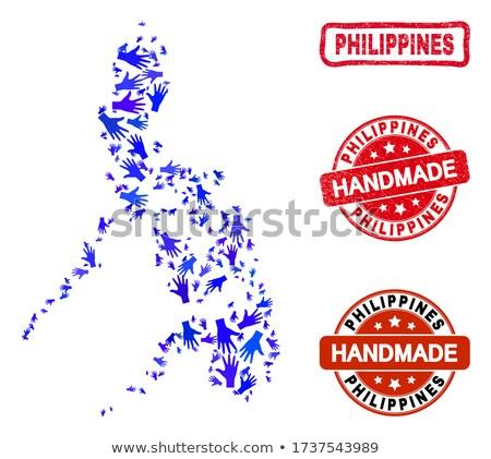 Made in Philippines - Red Rubber Stamp. Stock photo © tashatuvango