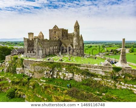 Histórico rocha ponto de referência grama azul castelo Foto stock © morrbyte