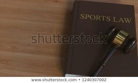 Sportowe prawa sportu wyposażenie skali sprawiedliwości Zdjęcia stock © Lightsource