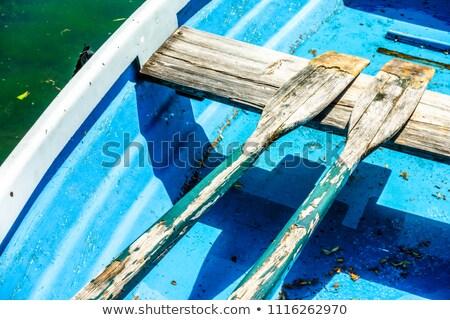 Oude roeien boten water houten avond Stockfoto © olandsfokus