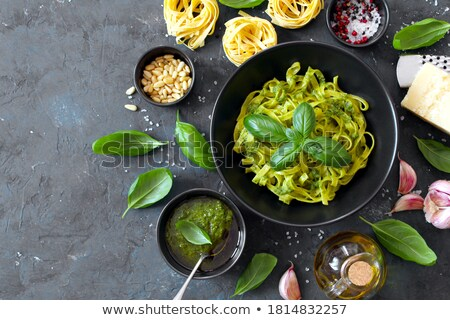 tagliatelle cooked with vegetables Stock photo © M-studio