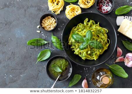 Tagliatelle pişmiş sebze akşam yemeği pişirme sebze Stok fotoğraf © M-studio