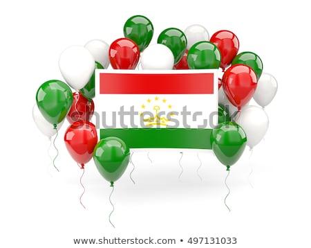 Flying balloons with flag of tajikistan Stock photo © MikhailMishchenko