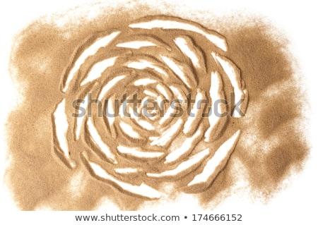 Zand sculptuur duin macro klein duin Stockfoto © Arrxxx