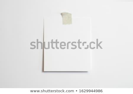 Yalıtılmış kutuplayıcı asılı parça dizi kâğıt Stok fotoğraf © nicemonkey