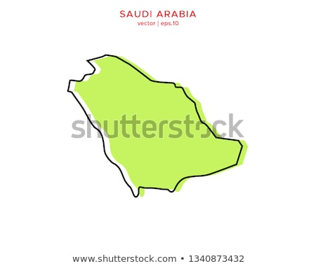 Silhueta mapa Arábia Saudita assinar branco Foto stock © mayboro
