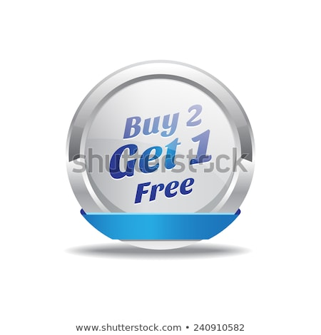 buy 2 get 1 free blue circular vector button stock photo © rizwanali3d