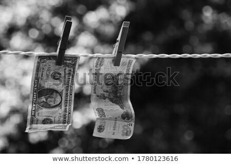 Dollar wasknijper geld witte papier succes Stockfoto © Valeriy