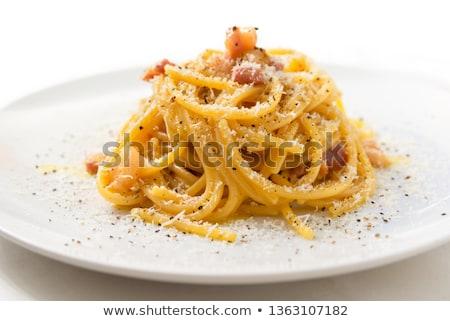 スパゲティ · ボウル · 卵 · レストラン · チーズ · パスタ - ストックフォト © joannawnuk