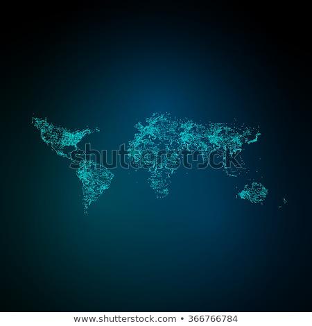 地球 · ネオン · グロー · レンダリング · ビジネス · インターネット - ストックフォト © spectral