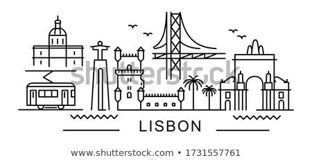 Cidade Lisboa linha do horizonte Portugal rio ver Foto stock © rognar