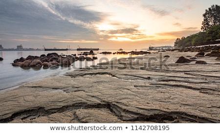 Tengerpart kék ég Szingapúr víz tenger óceán Stock fotó © tang90246